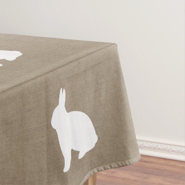 Burlap Bunny Tablecloth | Zazzle.com