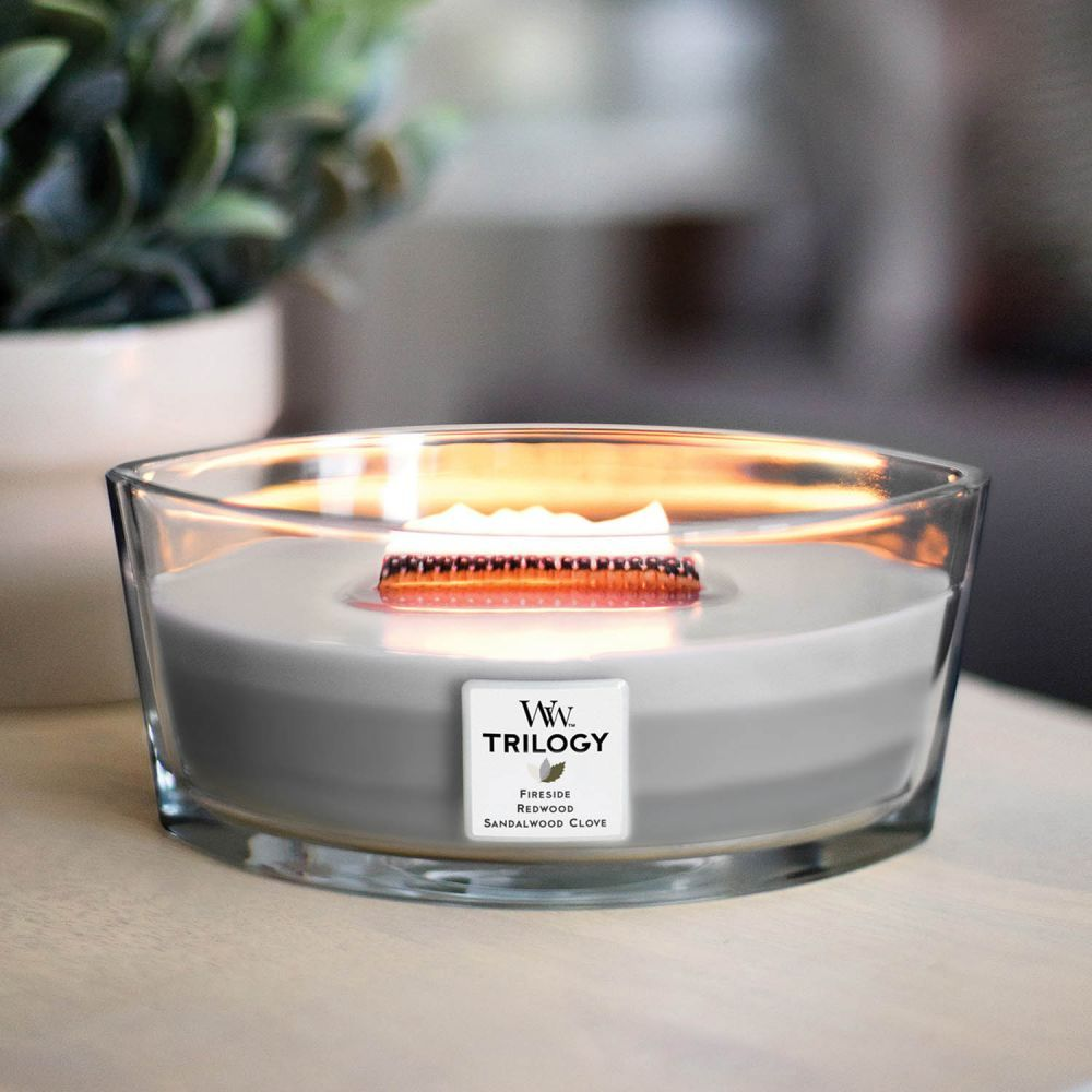Warm Woods Trilogy Hearthwick - WoodWick Candles - By Brand - Candles &  Fragrance | Wood wick candles, Crackle candles, Candles