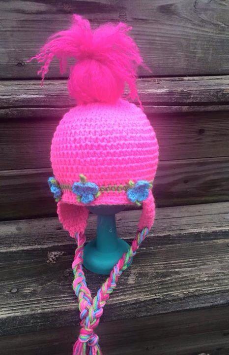Poppy Troll inspired hat..troll hat by EllieMaesCrochets on Etsy ...