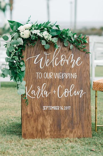 Welcome To Our Wedding Ceremony Board For A Ritz Carlton Amelia