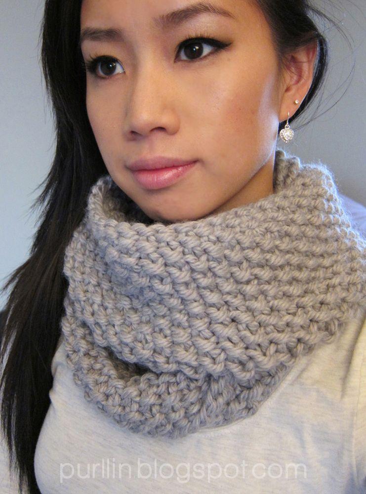 Cute seed stitch infinity scarf | Cute ideas | Pinterest | Bufanda ...