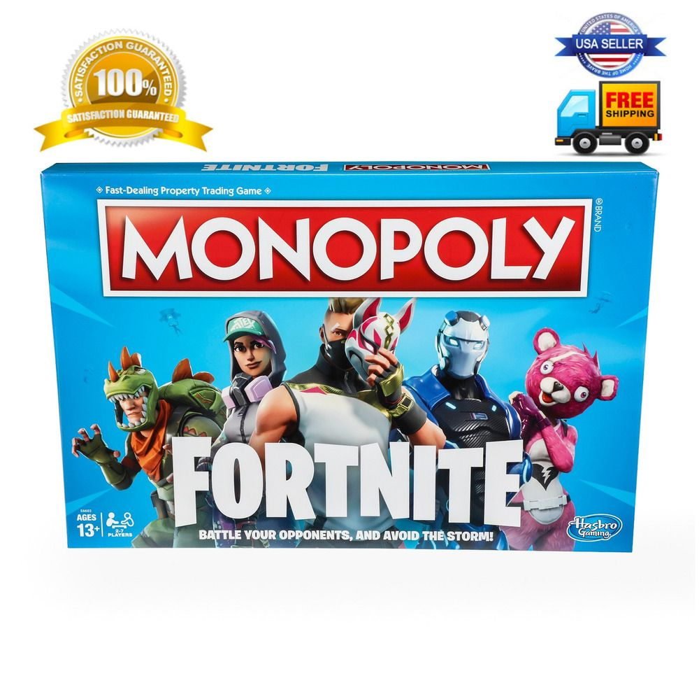 Monopoly Fortnite Edition Board Game Free Two Day Shipping