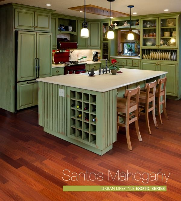 Santos Mahogany Ex Sm304 This Rich Color Of This Wood Floor May Vary From A Reddish Brown To Green Kitchen Cabinets Kitchen Design Refacing Kitchen Cabinets