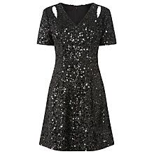 Buy Warehouse Sequin Flippy Dress Online at johnlewis.com