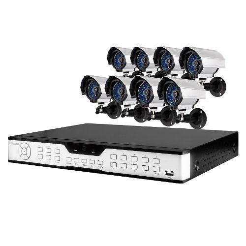 Zmodo 16CH H.264 Security DVR System With 8 Sony Color CCD