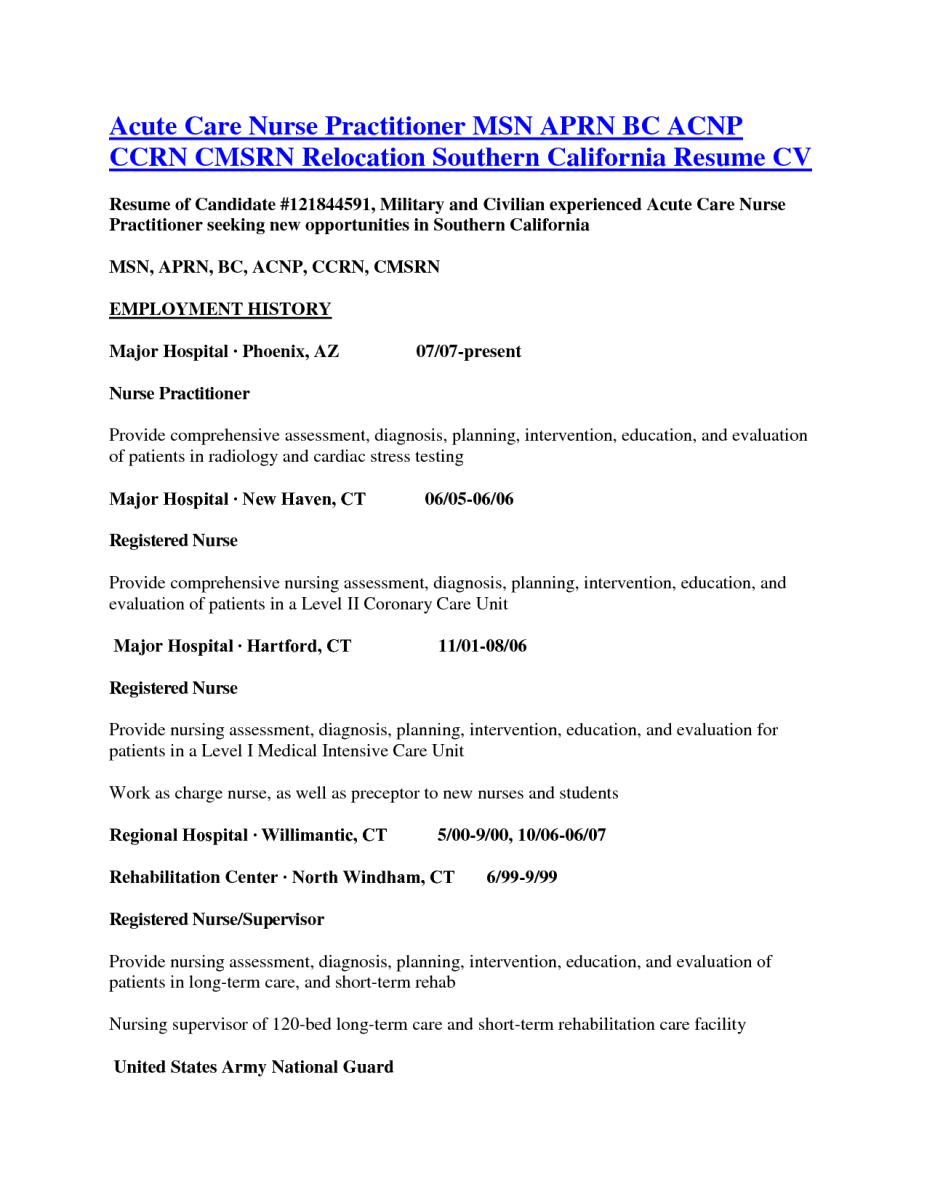 13 writing a nurse practitioner resume