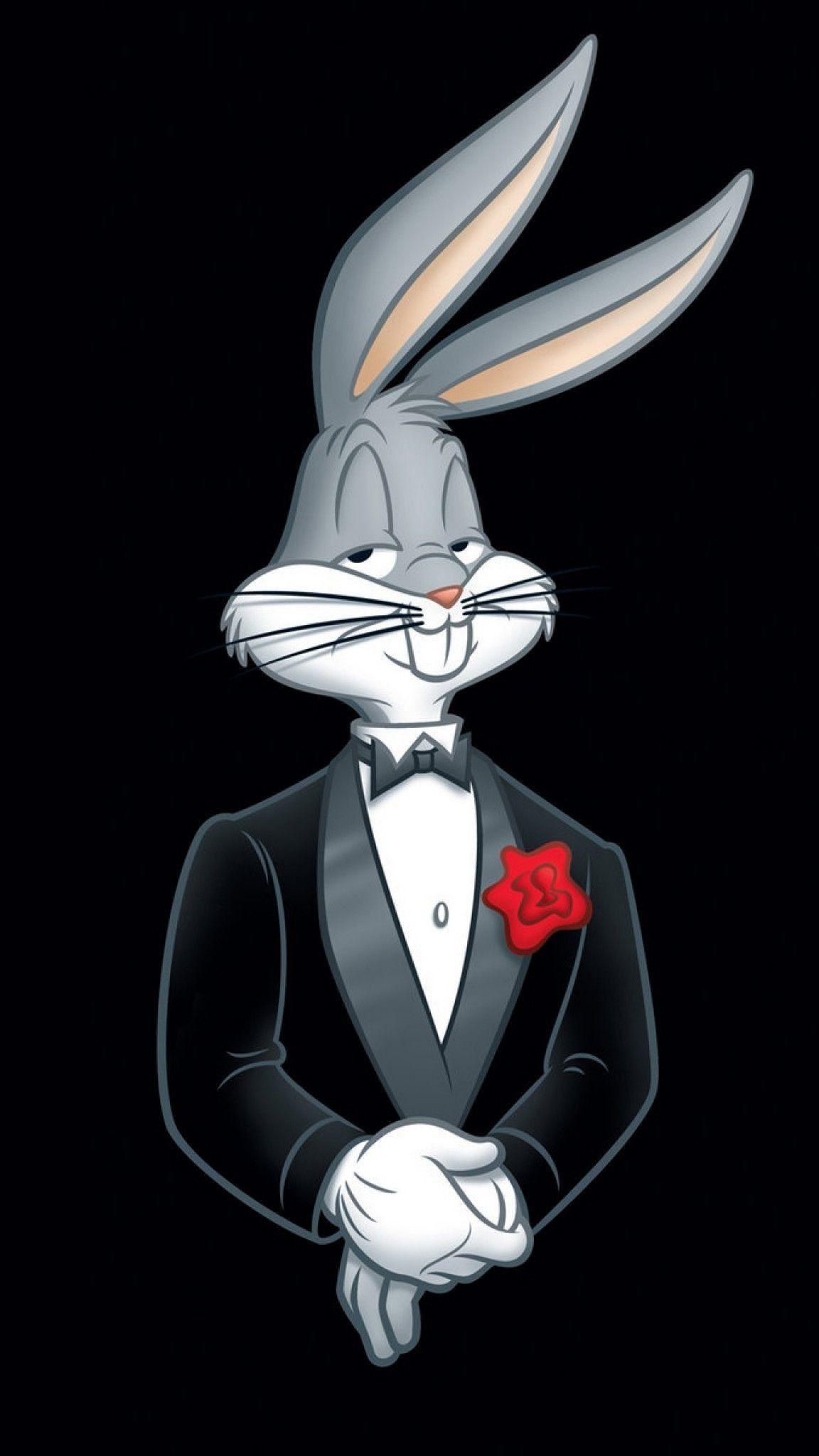 Res 1152x2048 Looney Tunes Bugs Bunny Rabbit Tuxedo Flower