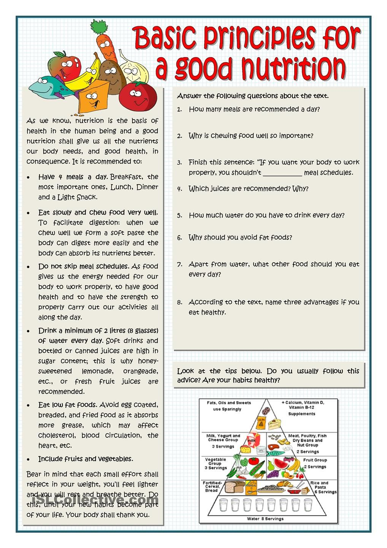 BASIC PRINCIPLES FOR A GOOD NUTRITION Kids nutrition