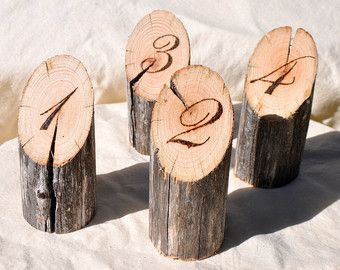 10 Wooden Table Numbers For Wedding Cafe Wood Rustic