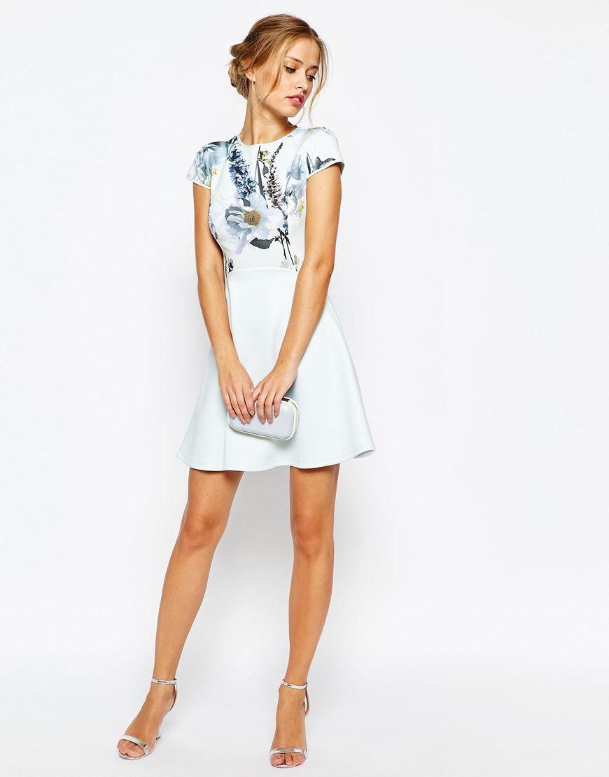 Ted Baker Faythe Torchlit Floral Skater Dress  b09126e5e