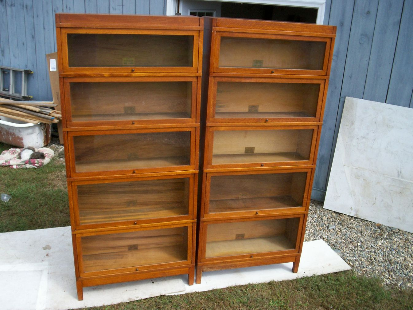 auston panel bookcase doors barrister with p wooden black bookcases wood