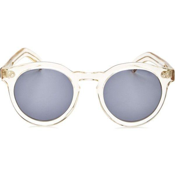 Illesteva Leonard Ii Oversized Round Sunglasses, 50mm (4,540 MXN) ❤ liked on Polyvore featuring accessories, eyewear, sunglasses, round frame glasses, illesteva eyewear, oversized sunglasses, illesteva and oversized glasses