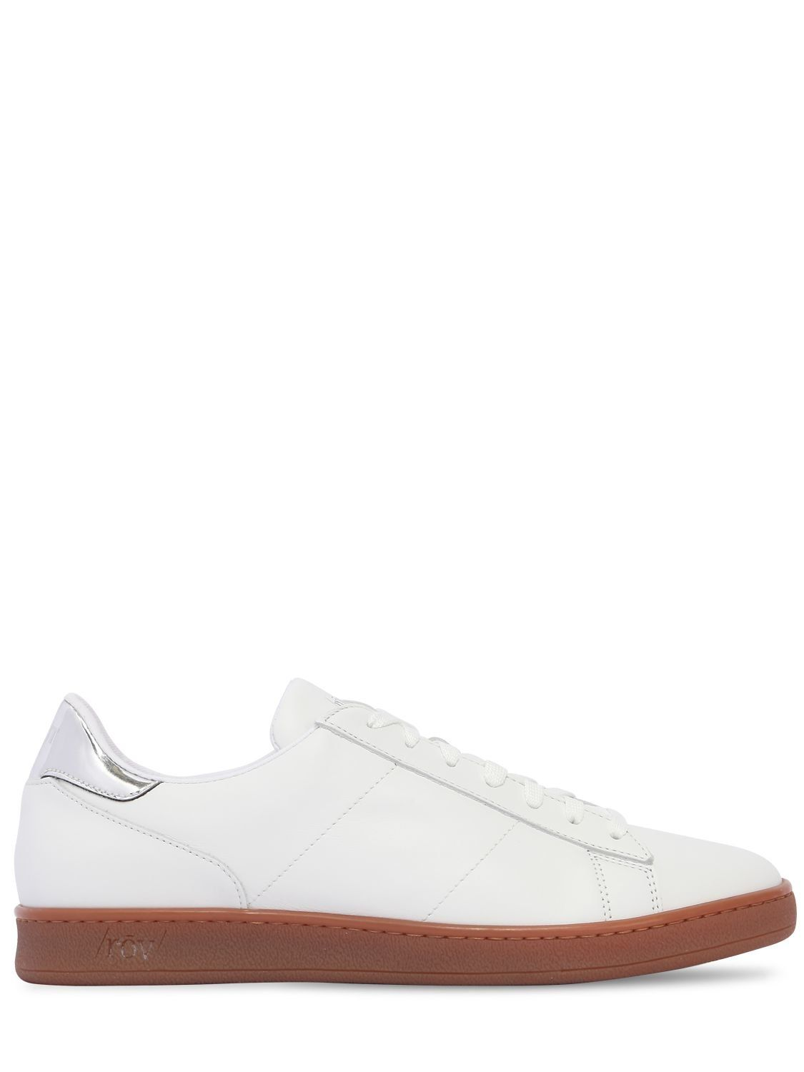 White and blue leather sneaker Rov NhS5vy