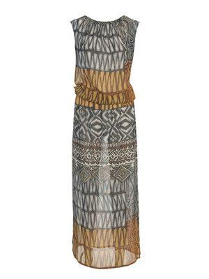 Sommer-Kleid - ärmellos - Schlitze  116 042011 B