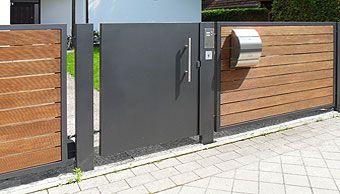 Schlosserarbeiten Privat Vorgarten Zaun Briefkasten Gartenturen