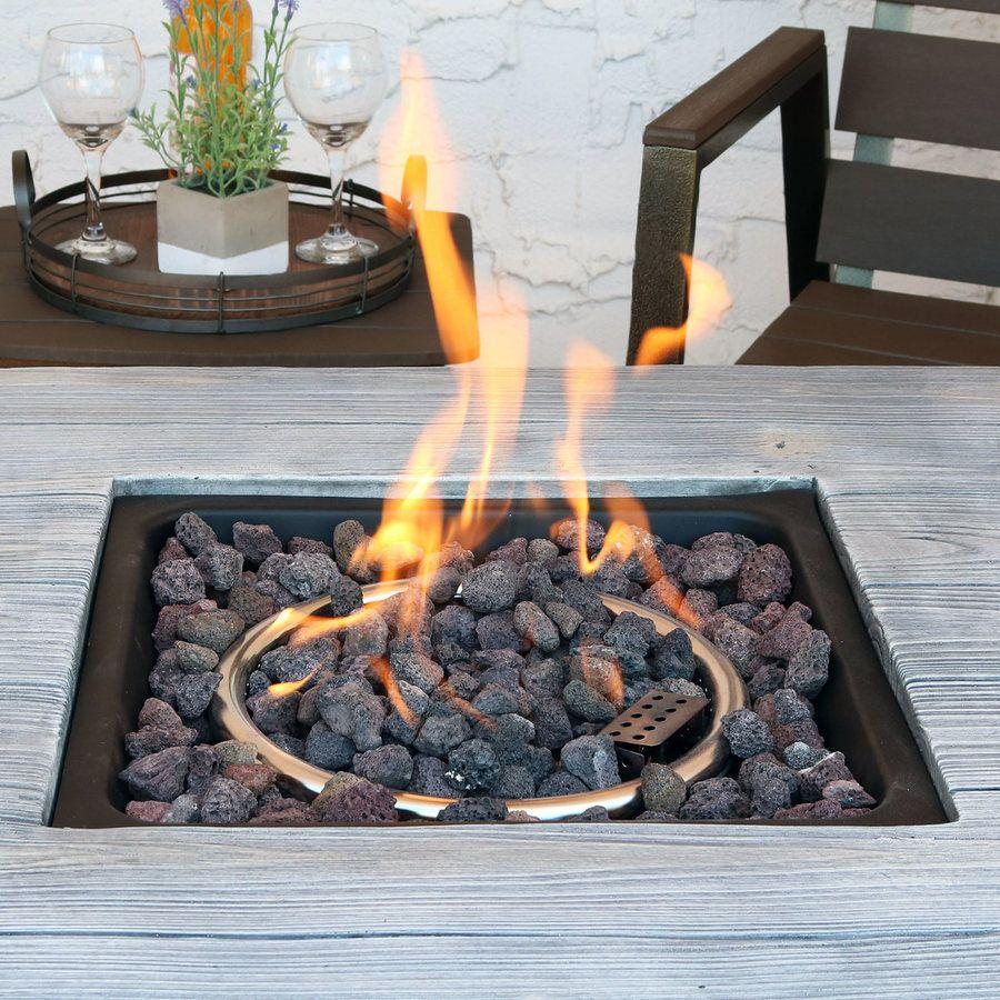 Sunnydaze Outdoor 30 Inch Square Propane Gas Fire Pit Table With Lava Rocks Gas Fire Pit Table Fire Pit Table Fire Pit