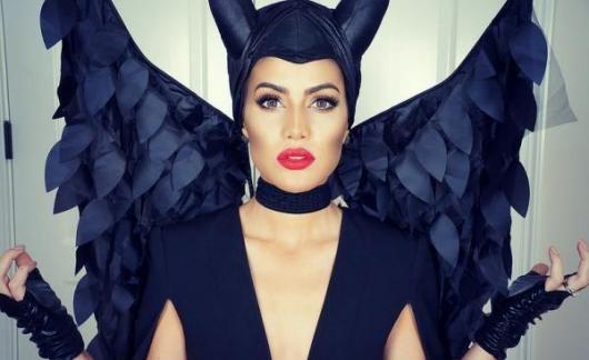 Fantasia Malévola de luxo com luvas de couro preto   Imprimíveis ... 9f041ec135