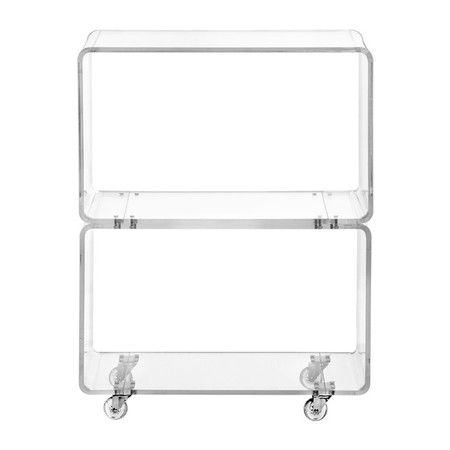 Webley Side Table in Clear  at Joss and Main