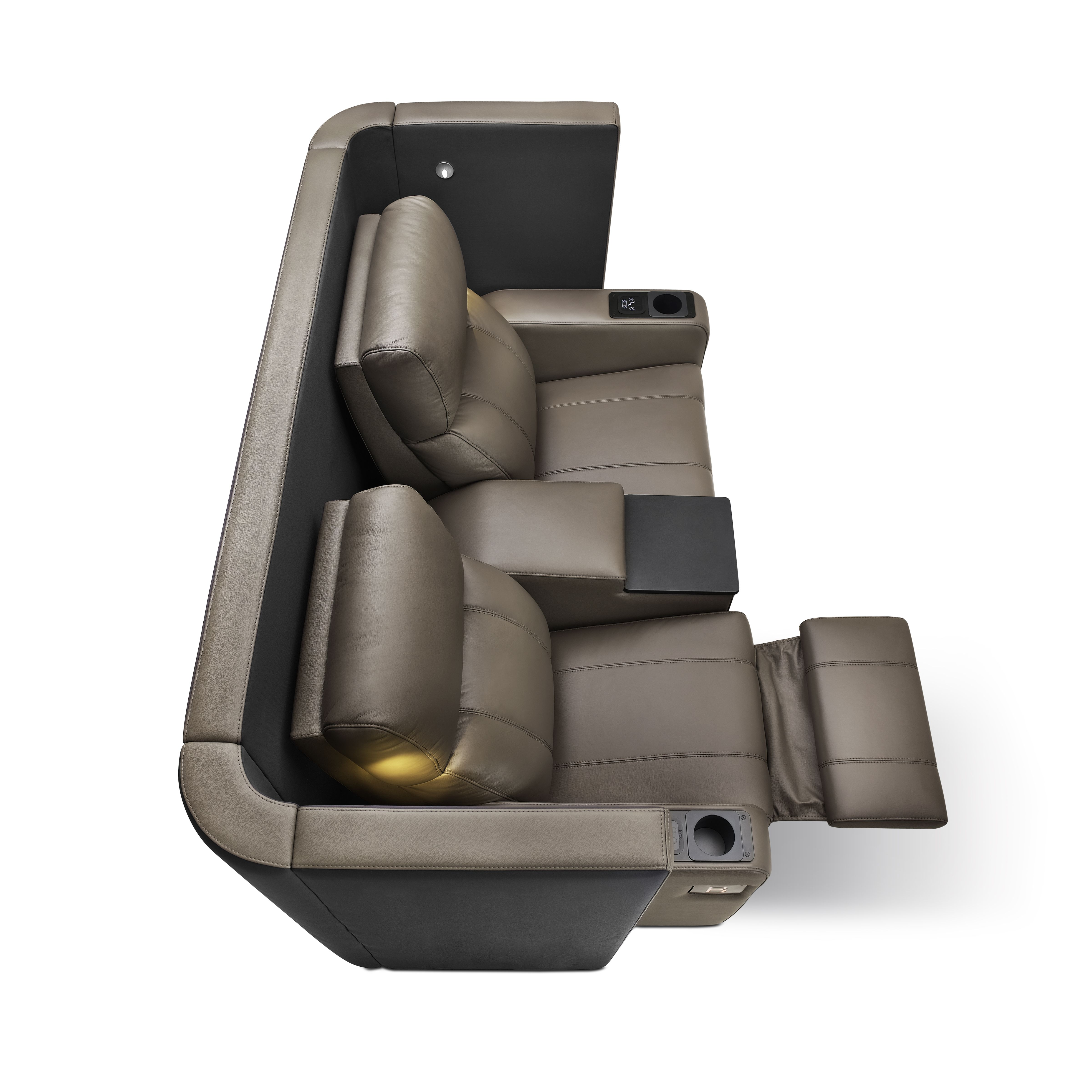 Veronal Lite Vip Reclining Cinema Seating With Wrap Around Privacy Screen Cinema Seats Seating Home Cinemas