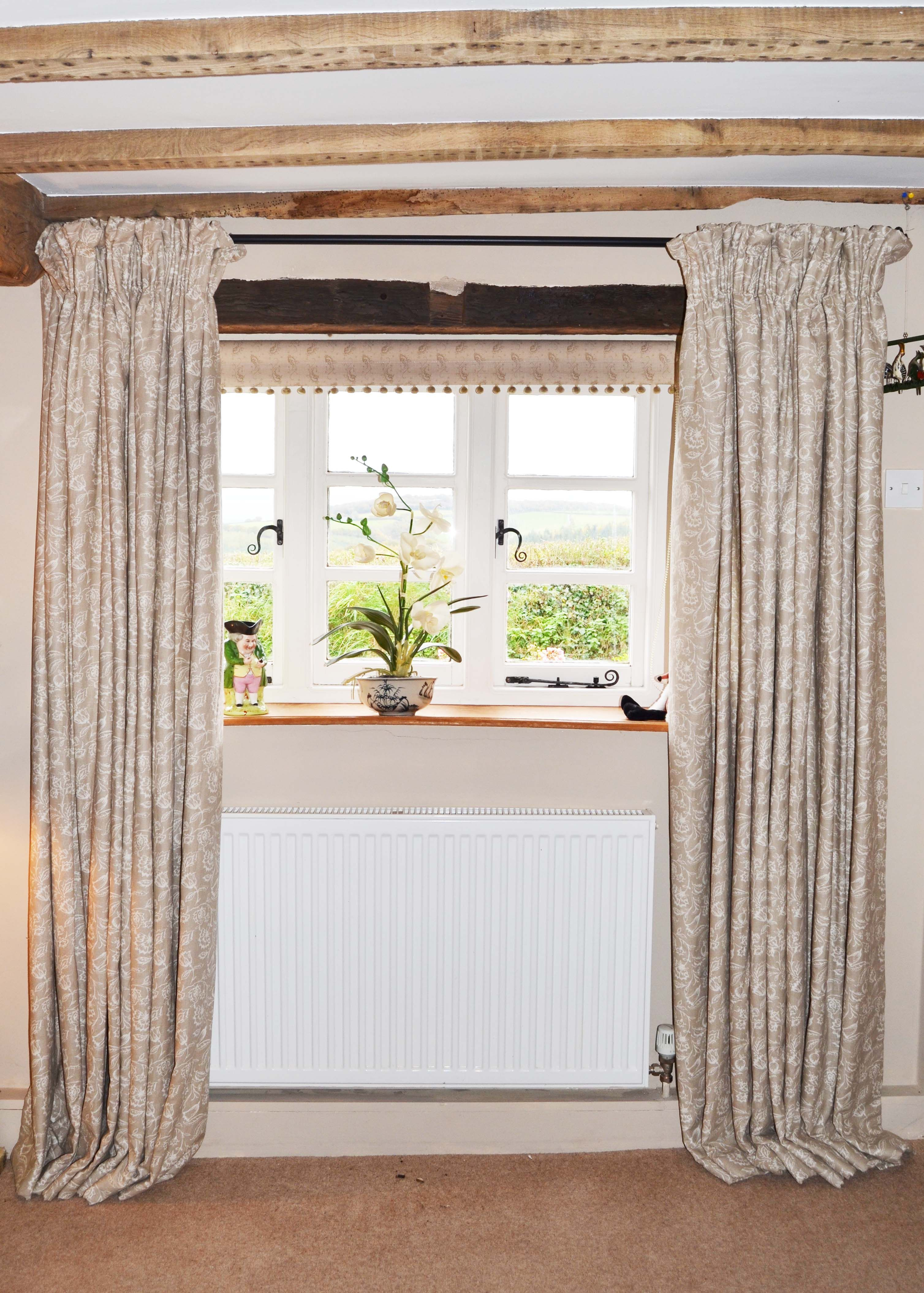 Astounding Elegant Country Cottage Curtains Muted Tones Natural Feel Beutiful Home Inspiration Aditmahrainfo