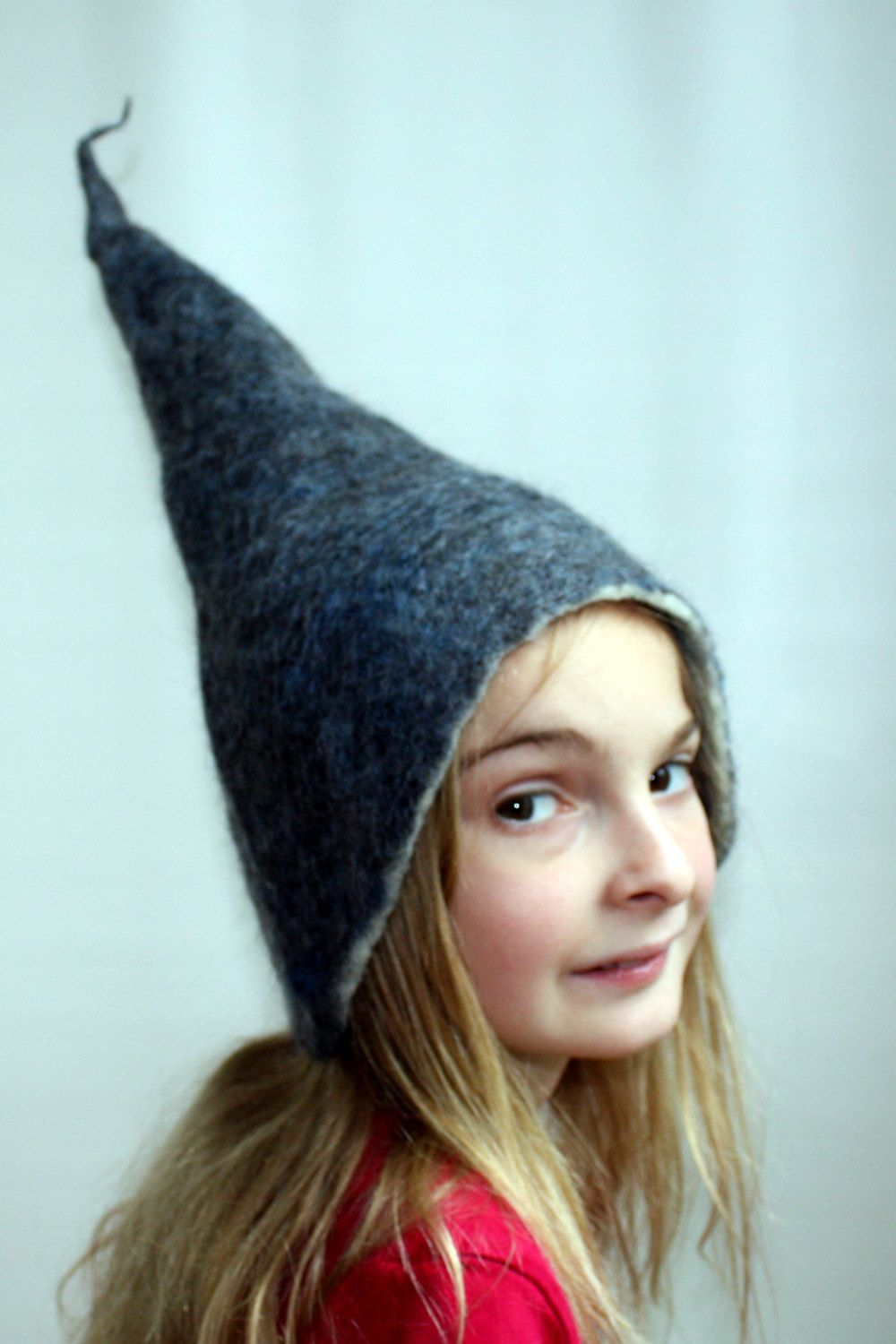 Child Hat.Blue Wet Felted Wool Hat 7d5b24b9bf0