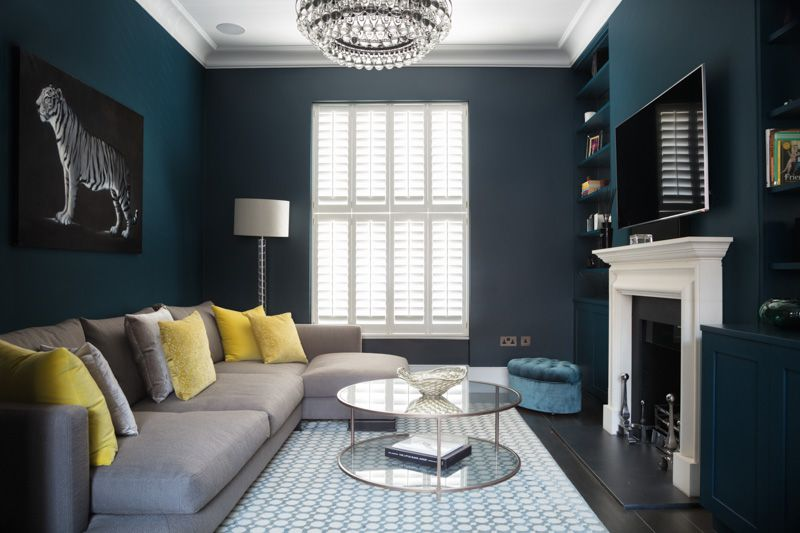 Of London Living Room Wall Color Blue Living Room Navy Living Rooms
