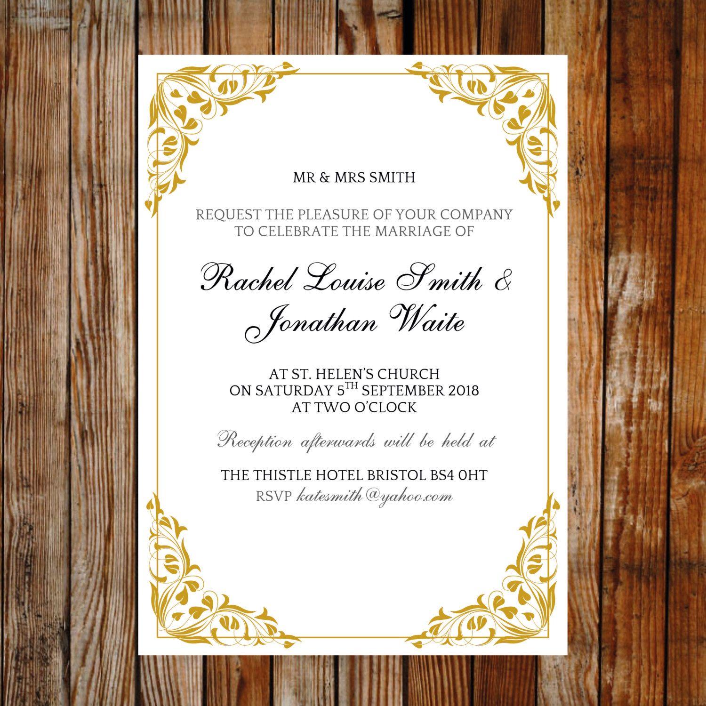Pin by Love Wedding Designs on Printable Wedding Invitations ...