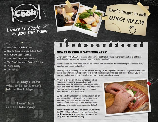Web Design Leicester By Clientel Systems Ltd Www Confident Cook Co Uk The Confident Cook Is A Friendly And Informal Leicestershire Based Cookery School Wh