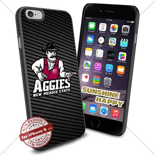 New Mexico State Aggies, Logo NCAA Sunshine#2108 Cool iPhone 6 - 4.7 Inch Smartphone Case Cover Collector iphone TPU Rubber Case Black SUNSHINE-HAPPY http://www.amazon.com/dp/B011SH7F38/ref=cm_sw_r_pi_dp_CIH.vb0603BB9