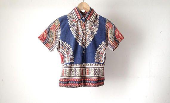 Vintage Bohemian Hippie Shirt qEUtwmre