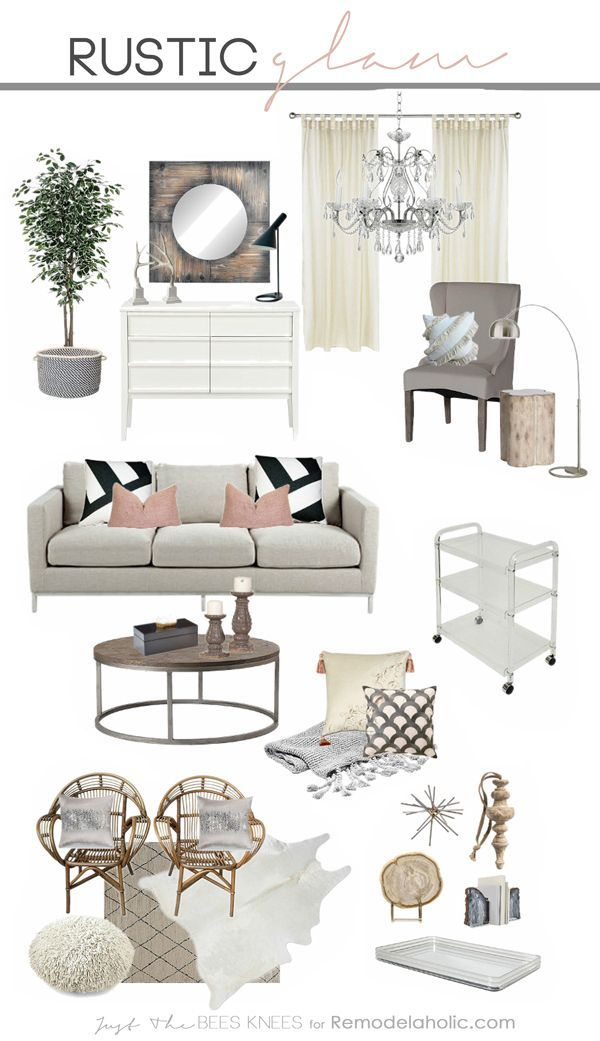 Tips for decorating in a rustic glam style -- a great ...