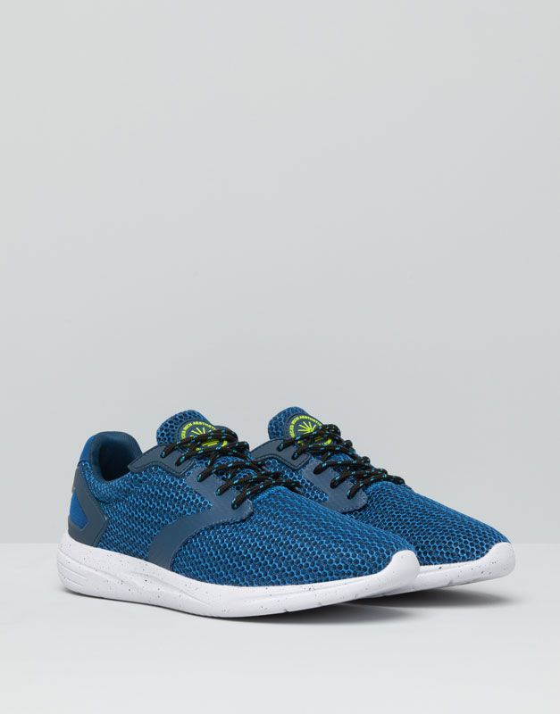 Pull&Bear - homme - chaussures homme - chaussures de jogging filet - bleu -  17295012-