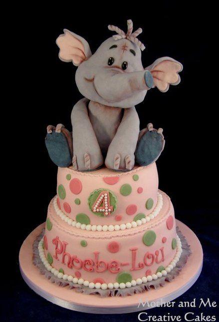 Cute Elephant - by MotherandMe @ CakesDecor.com - cake ...