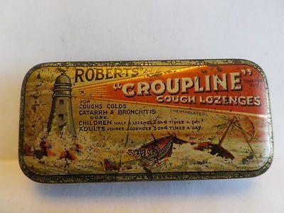Vintage cough lozenge tin