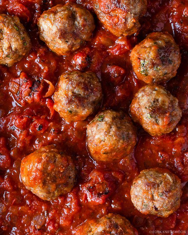 Spanish Style Lamb Meatballs With Spicy Tomato Sauce Recipe