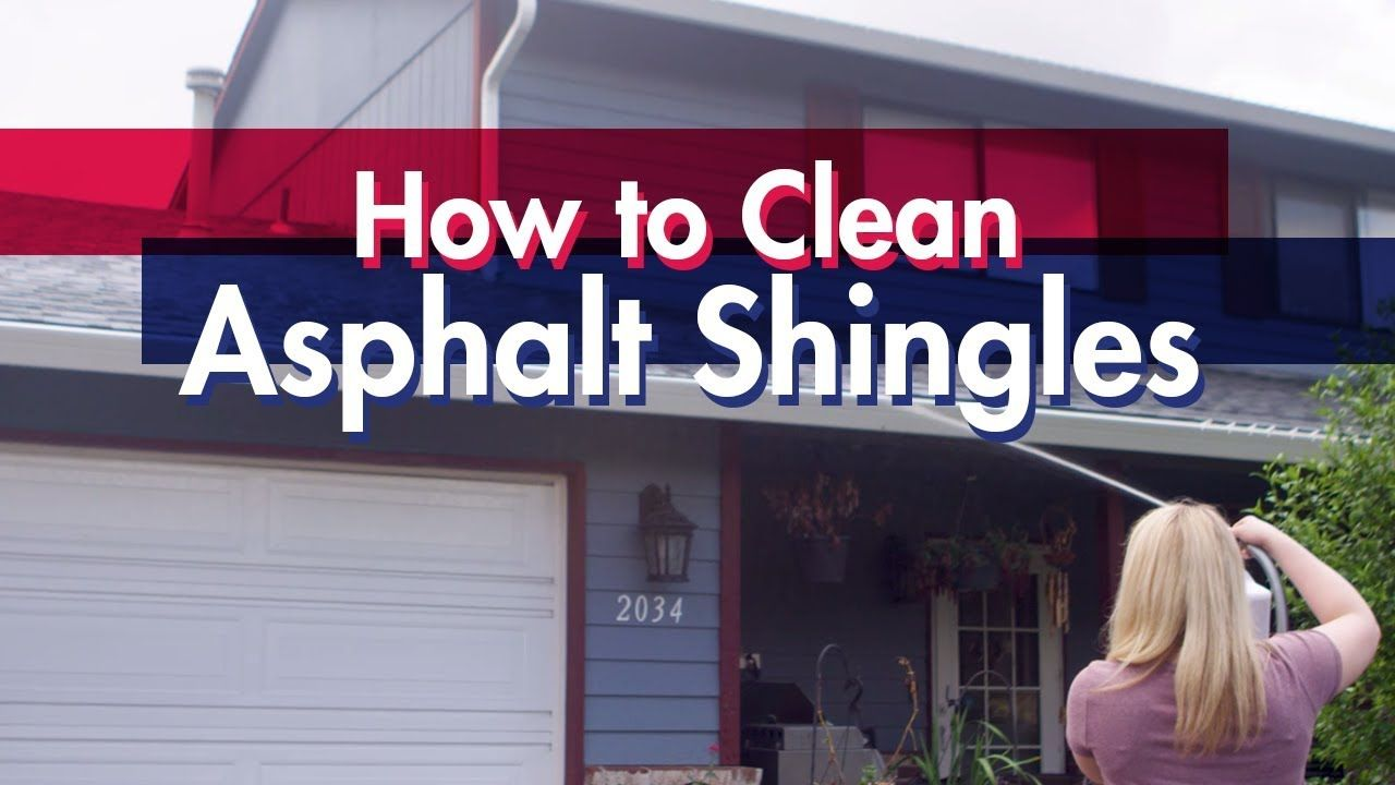 How to Clean Asphalt Shingles with 30 SECONDS Outdoor