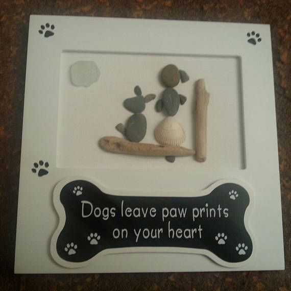 Handmade PEBBLE Art Frame Dogs Leave Paw Prints On Your | Rock My ...