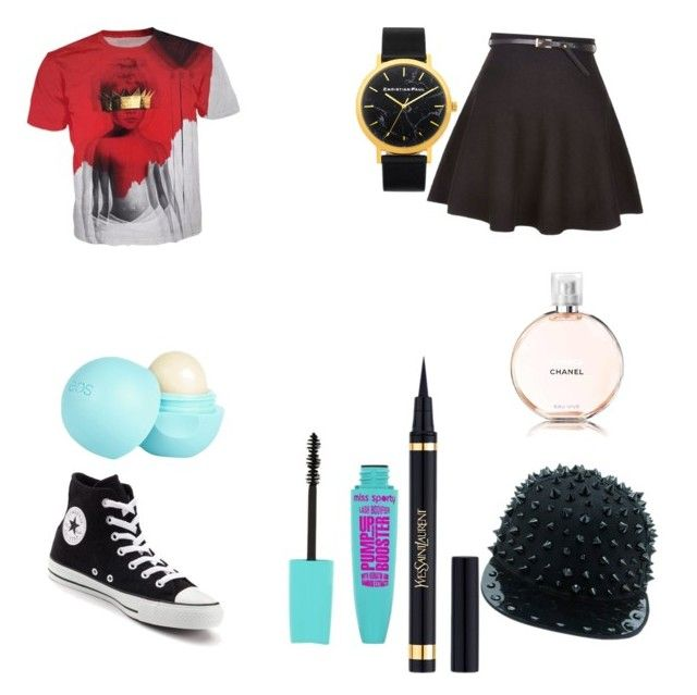 """""""End of the school year ootd"""" by micahisaunicorn on Polyvore featuring Converse, Yves Saint Laurent, River Island and Chanel"""