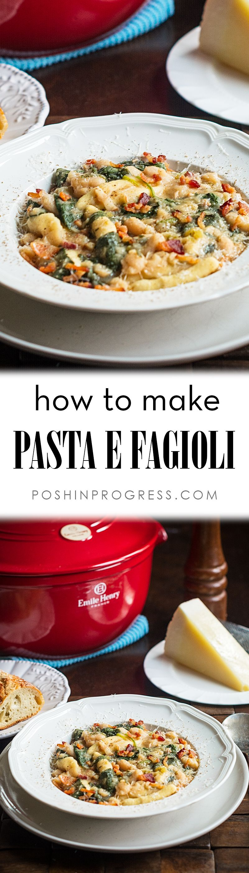 I'll show you how to make Pasta Fagioli (technically Pasta E Fagioli). It's a classic one-pot meal recipe, a hearty winter soup, and one of my dad's favorites. Leave the bacon out and it's a great vegetarian meal.