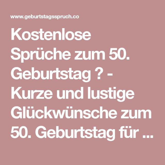 Geburtstag 50 gluckwunsche lustig