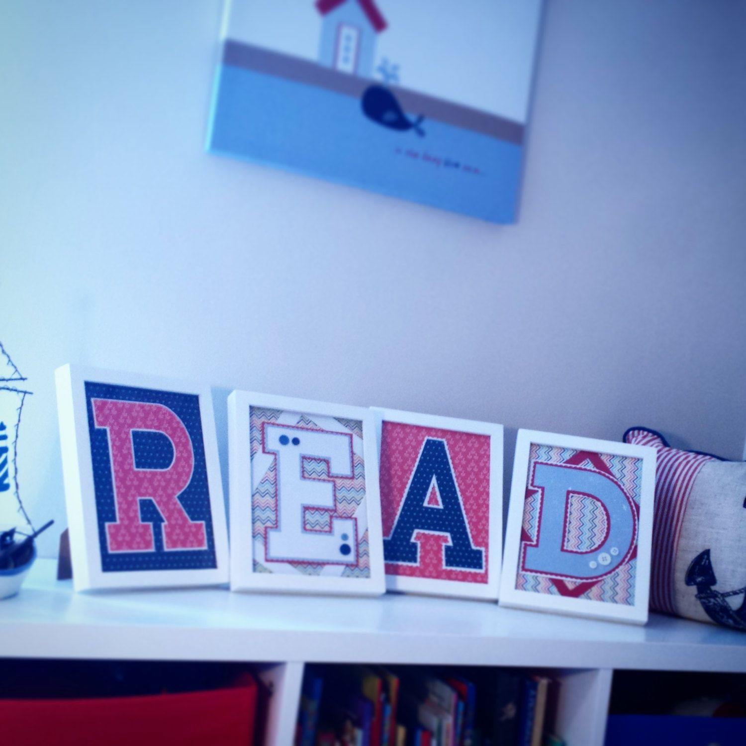 Bespoke Design Framed Letters And Wording, Childrens Bedroom, Playroom Nursery