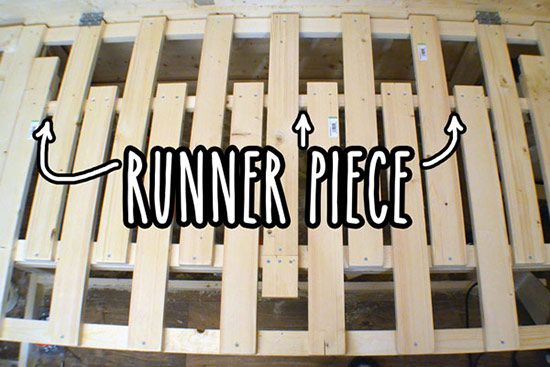 Extending slats with runner piece fitness pinterest for Campervan furniture plans