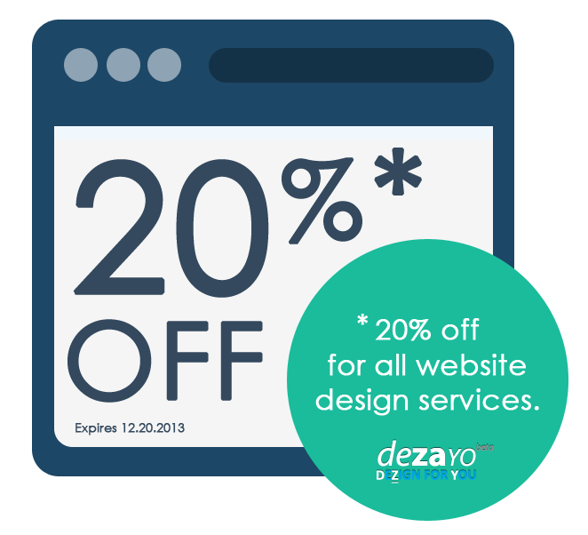 Order And Get 20 Off For All Website Design Services Expires 12 20 2013 Coupon Codes