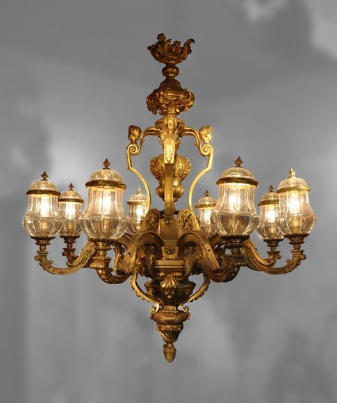 André-Charles BOULLE (1642 - 1732) (after), Mazarin Chandelier with ...