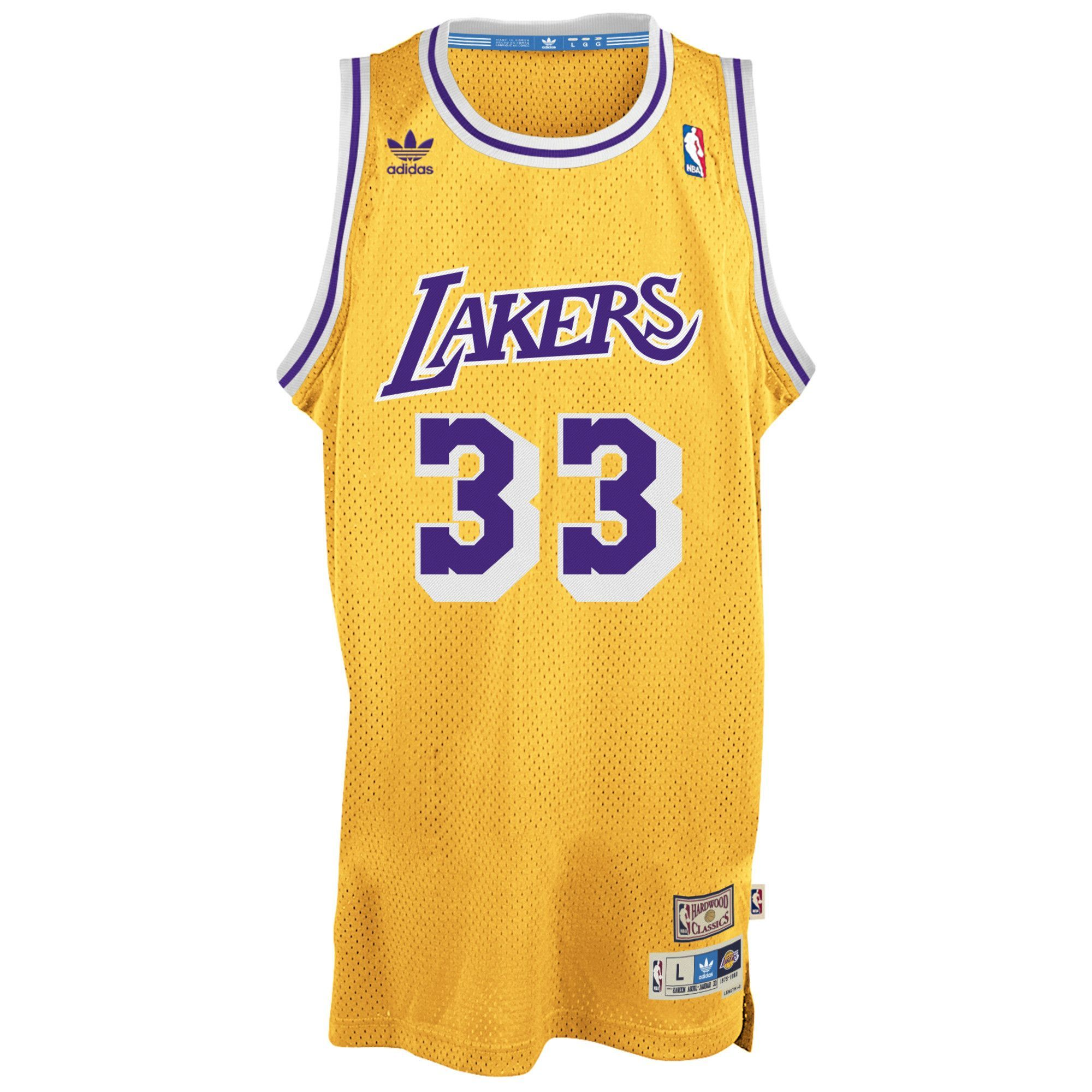 dd93df4ecc52 Men s Kareem Abdul-Jabbar Los Angeles Lakers Gold Hardwood Classic Swingman  Jersey by adidas. Pro Image Sports at Mall of America.