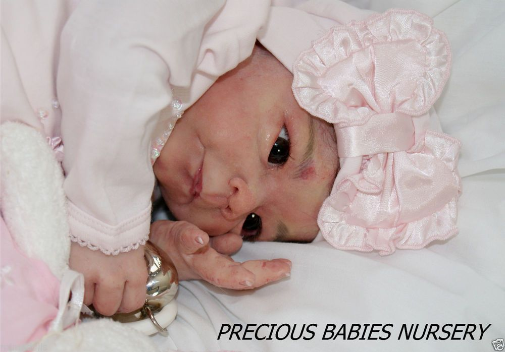 PROTOTYPE POPPY~SILICONE BABY DOLL~SCULPTED BY L. BREEDVELD~REBORN BY MIMADOLLS