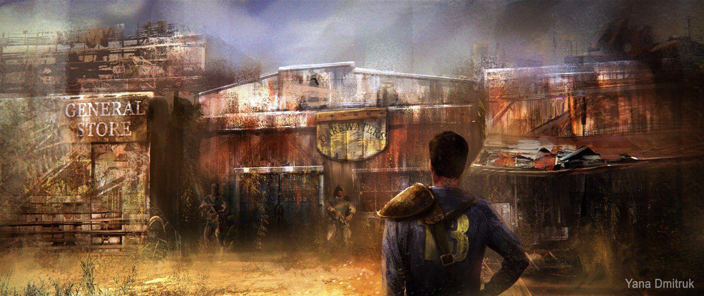 Fallout 1 By Yana Dmitruk Fallout Concept Art Fallout Art
