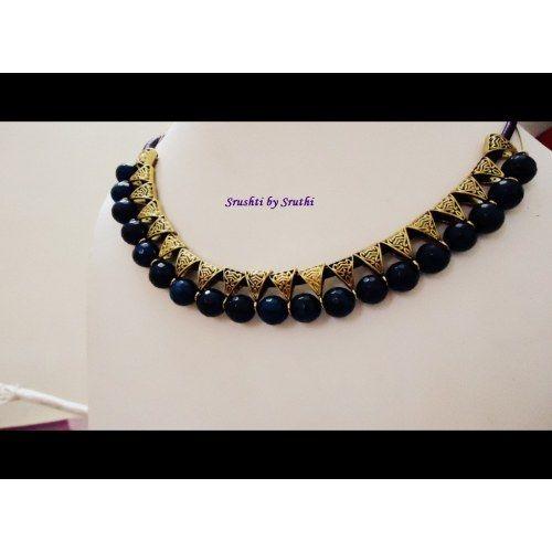 Choker Necklace Blue
