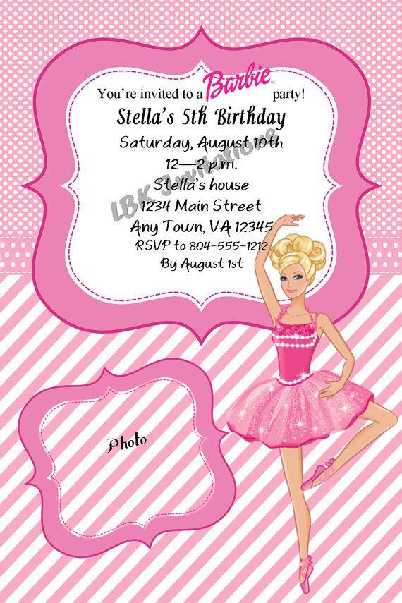 Custom Barbie Birthday Invitation by LBKInvites on Etsy 1200