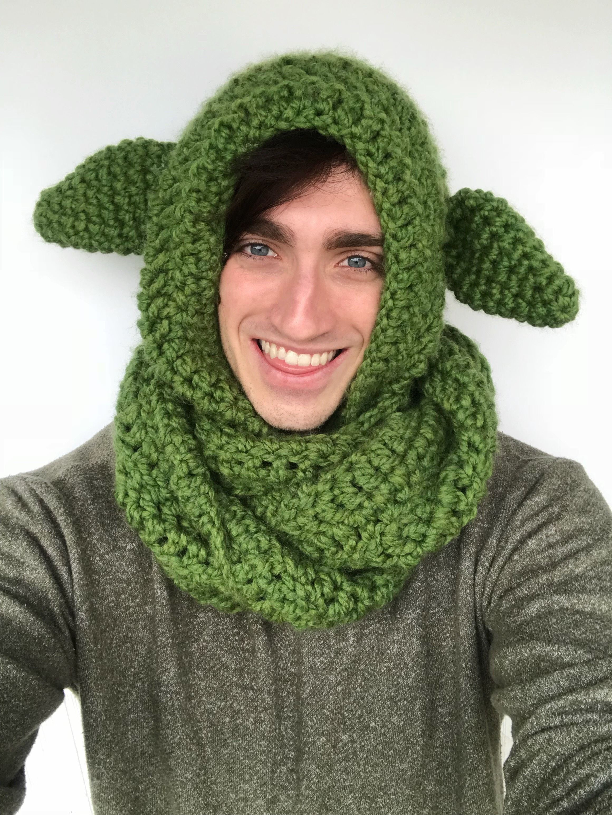 Yoda Scoodie #FreeCrochetPattern | Crochet ~ Cover-Ups: Scoodie ...
